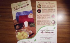 Flyer und Logo – Massage